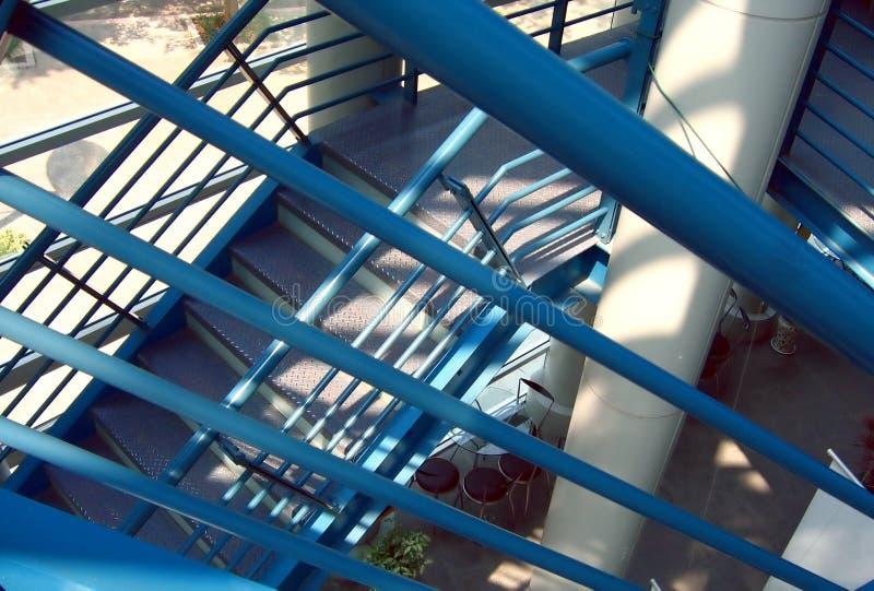 Metalltreppenhaus stockfoto