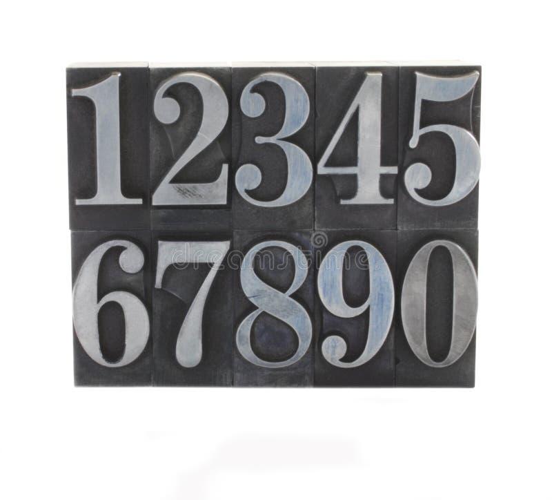 Metalltyp nummeriert 1 stockfotos
