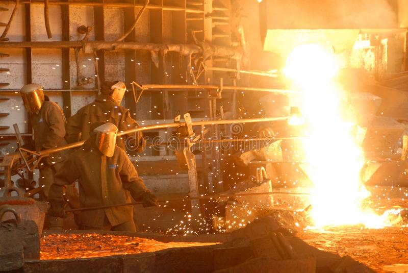 Metallugry lizenzfreie stockfotos