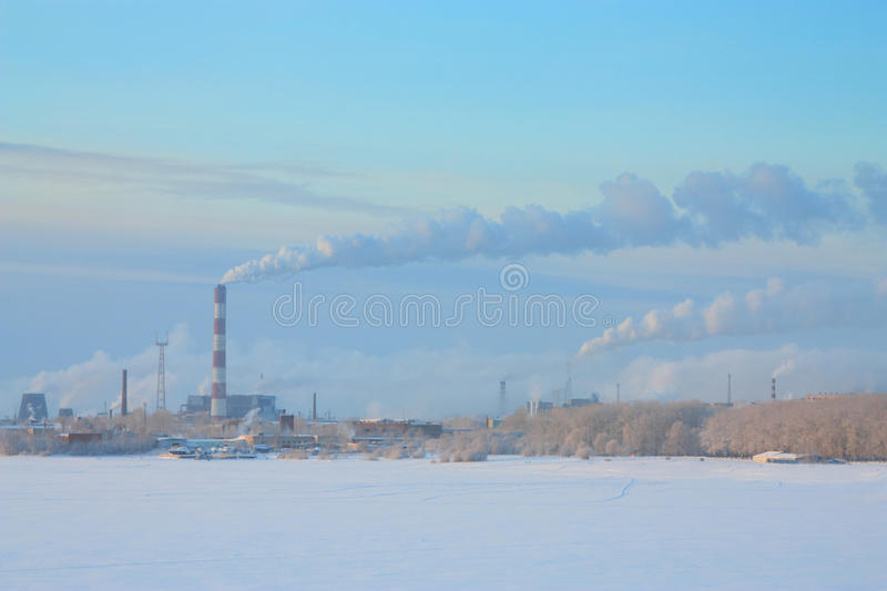 Metallurgical Plant Royalty Free Stock Photography