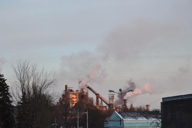 Metallurgical plant royalty free stock photo