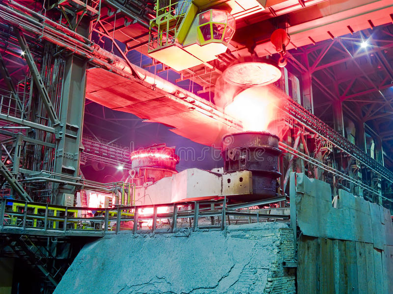 Download Metallurgical Plant, Industrial Production Process Stock Image - Image: 11284683