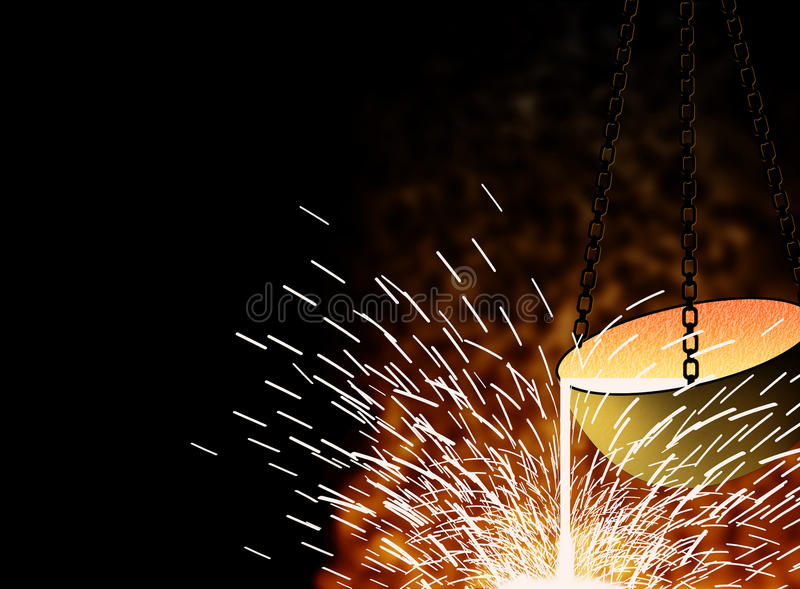 Metallurgie vector illustratie