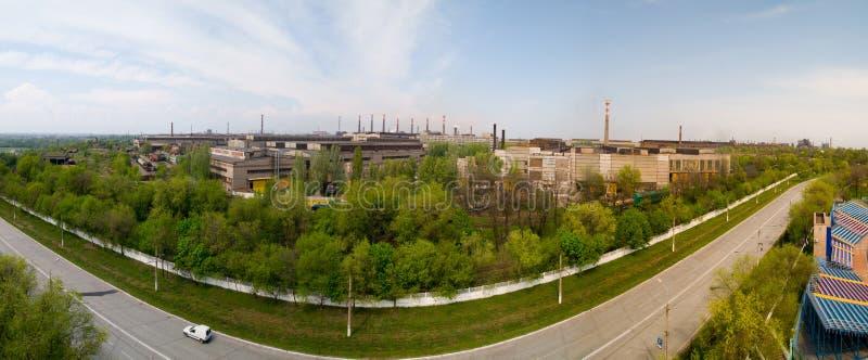 Metallurgische Anlage in Mariupol, Ukraine stockbilder