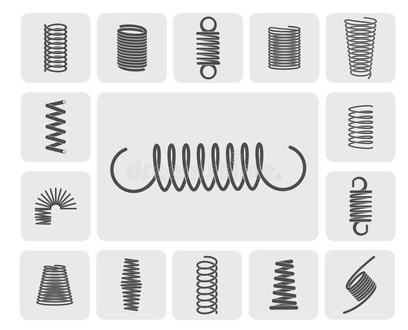 Metallvåruppsättning vektor illustrationer