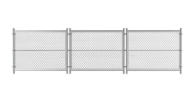 Metallverdrahteter Zaun stock abbildung