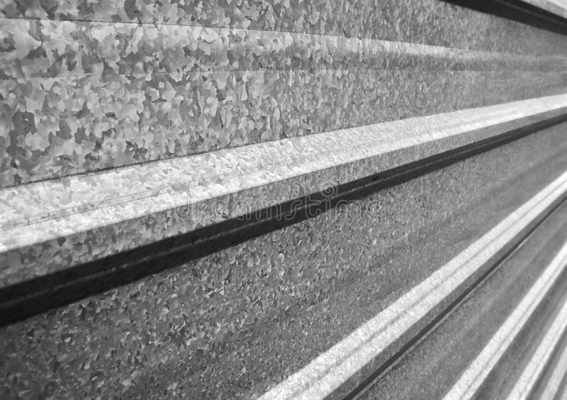 Metallzaunperspektive stockfotos