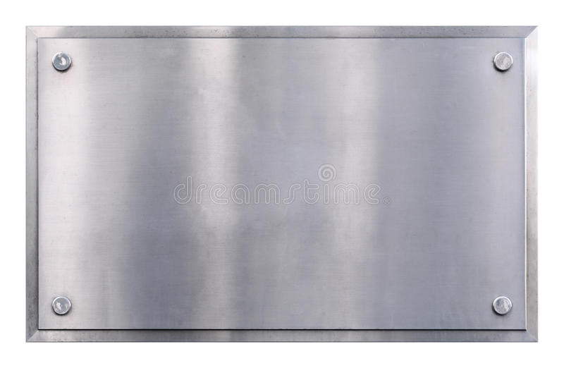 Metallzeichenhintergrund stockfoto