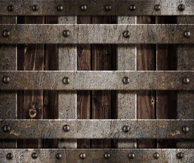 Metalmittelalterlicher Schloss-Antikehintergrund stockfotos