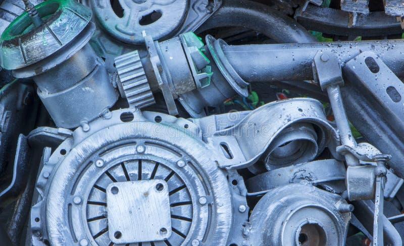metalowe abstrakcyjna konsystencja Od starych metal części silniki obrazy royalty free