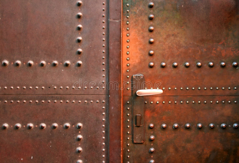 metalowe drzwi obraz stock
