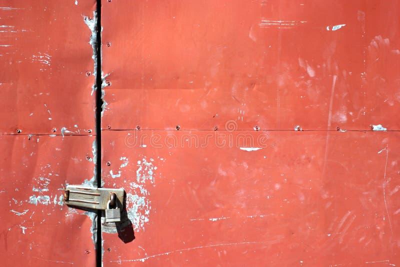 Metalowe Drzwi Zdjęcie Stock