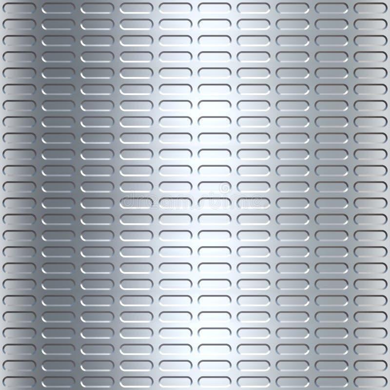 metalowy tła srebra royalty ilustracja