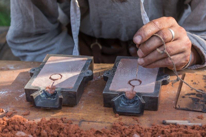 Metalsmith die model gestalte geven royalty-vrije stock foto