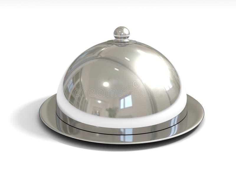 Metaltellersegment mit Kappe lizenzfreie abbildung