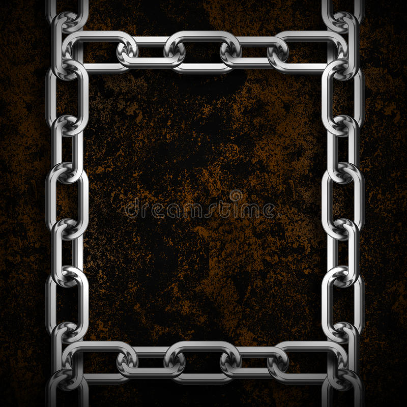 Metalu łańcuchu rama ilustracja wektor