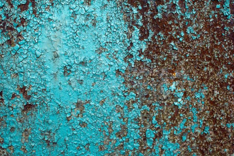 Metalu ściana textured ośniedziały tło obraz stock