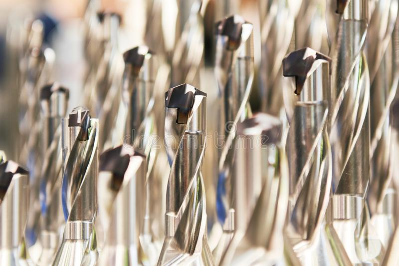 Metalu świderu narzędzia set z karbidową wszywką zdjęcie stock