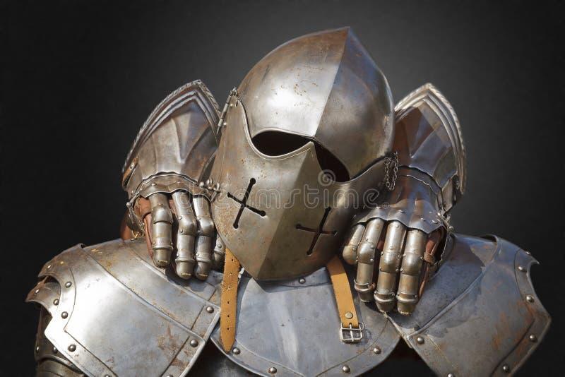 Metalu antyczny opancerzenie zdjęcia royalty free