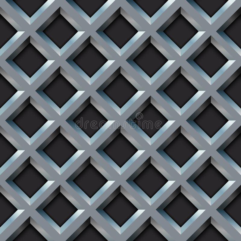 Metalu bezszwowy grill ilustracji