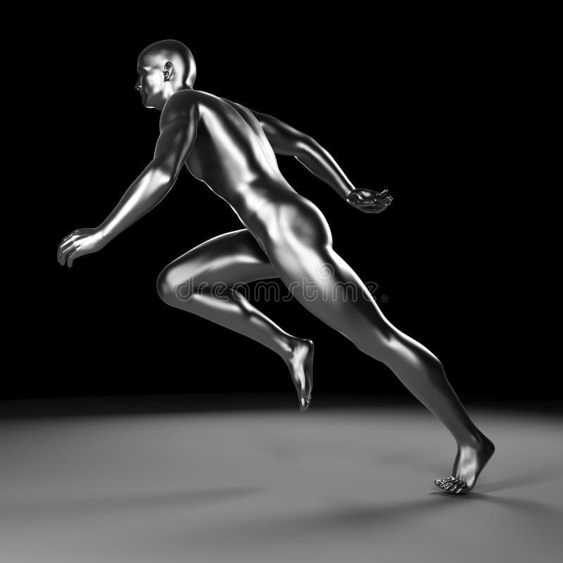 Metalu biegacz ilustracji