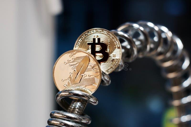 Metalu Bitcoin moneta obrazy royalty free