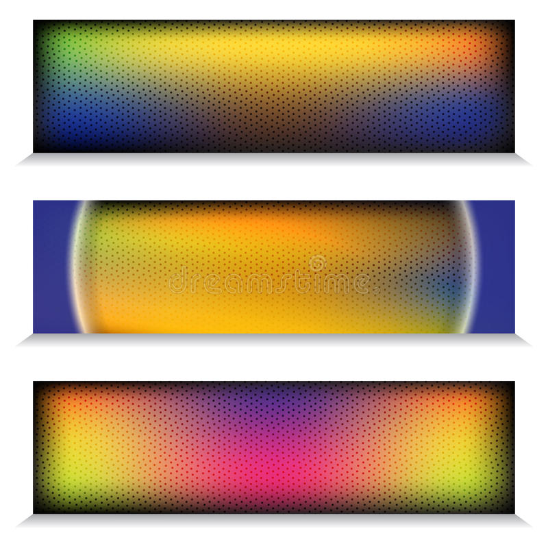 Metalu chromu tęczy sieci Titanium sztandar ilustracja wektor