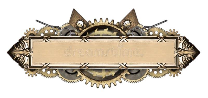Metalu clockwork i ramy szczegóły zdjęcie stock