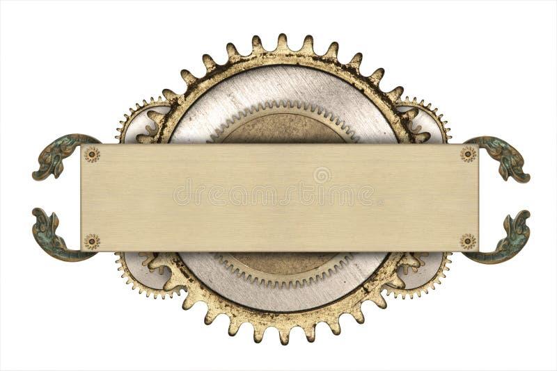 Metalu clockwork i ramy szczegóły fotografia royalty free