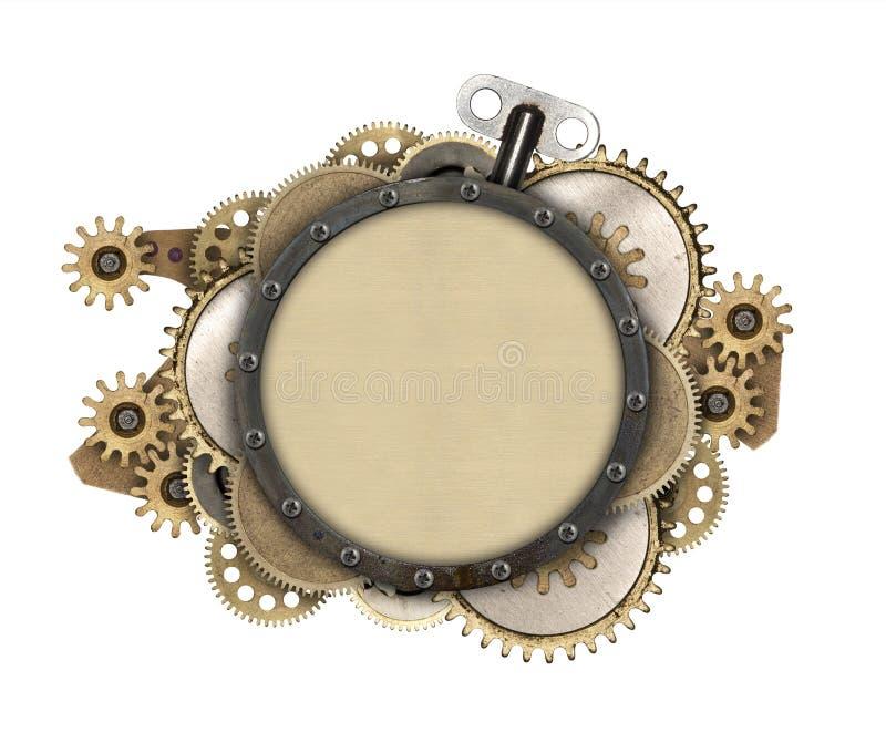 Metalu clockwork i ramy szczegóły fotografia stock