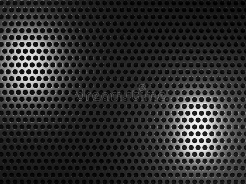 Metalu czarny tło ilustracja wektor