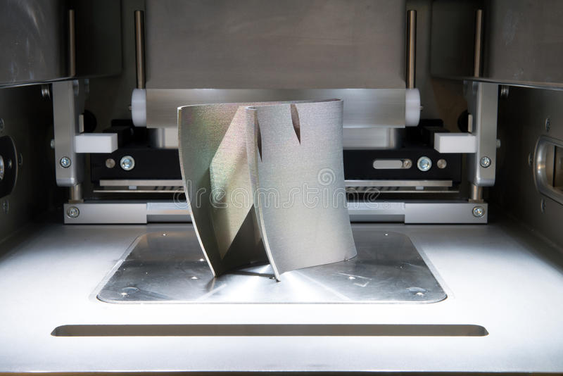 Metalu 3D drukarki & x28; DMLS& x29; obraz royalty free