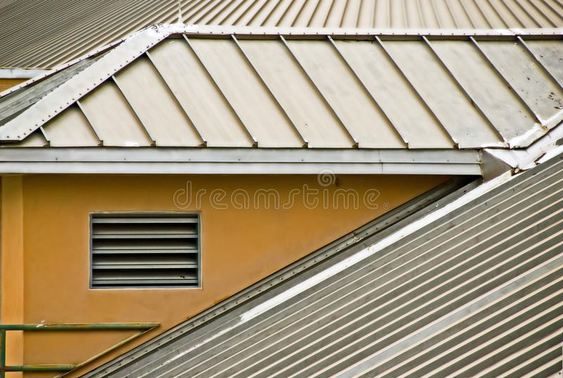 metalu dach fotografia stock