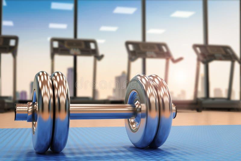 Metalu dumbbell w gym royalty ilustracja