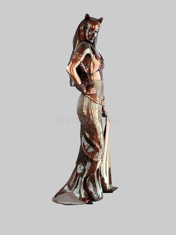 Metalu egipcjanina statua obraz stock