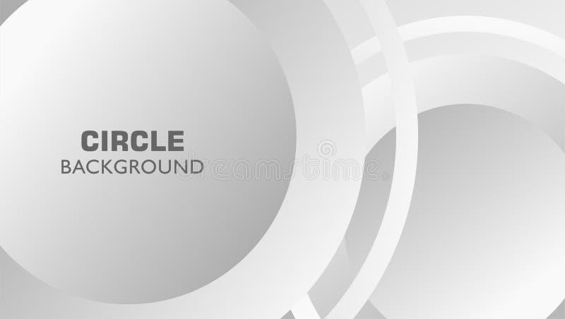Metalu grayscale okręgu abstrakta dynamiczny tło ilustracji