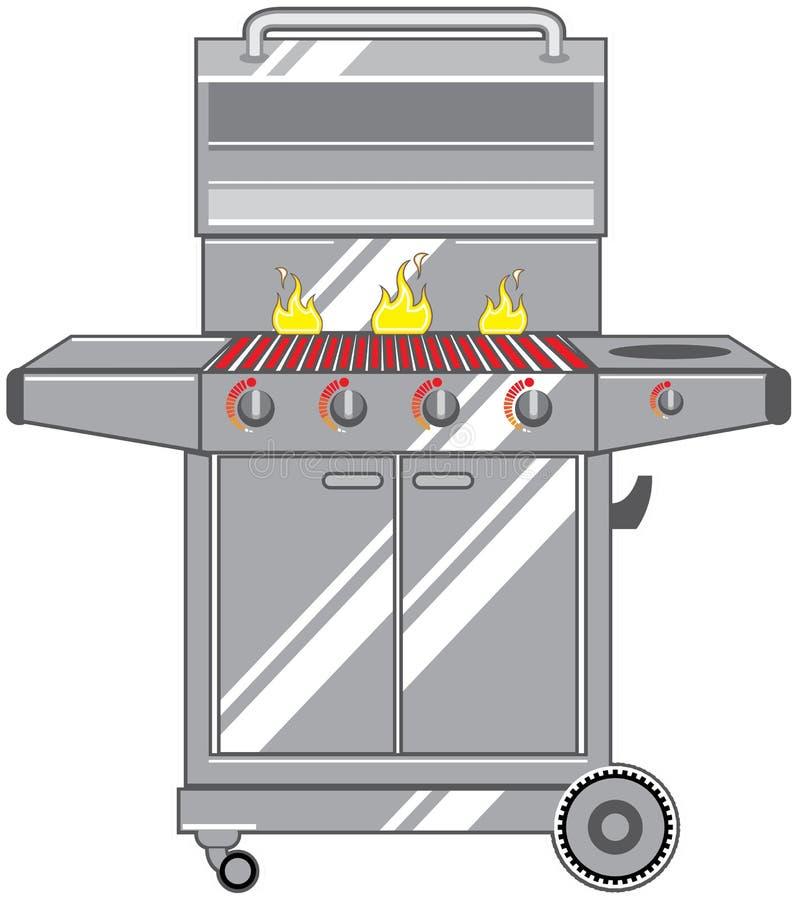 Metalu grill royalty ilustracja