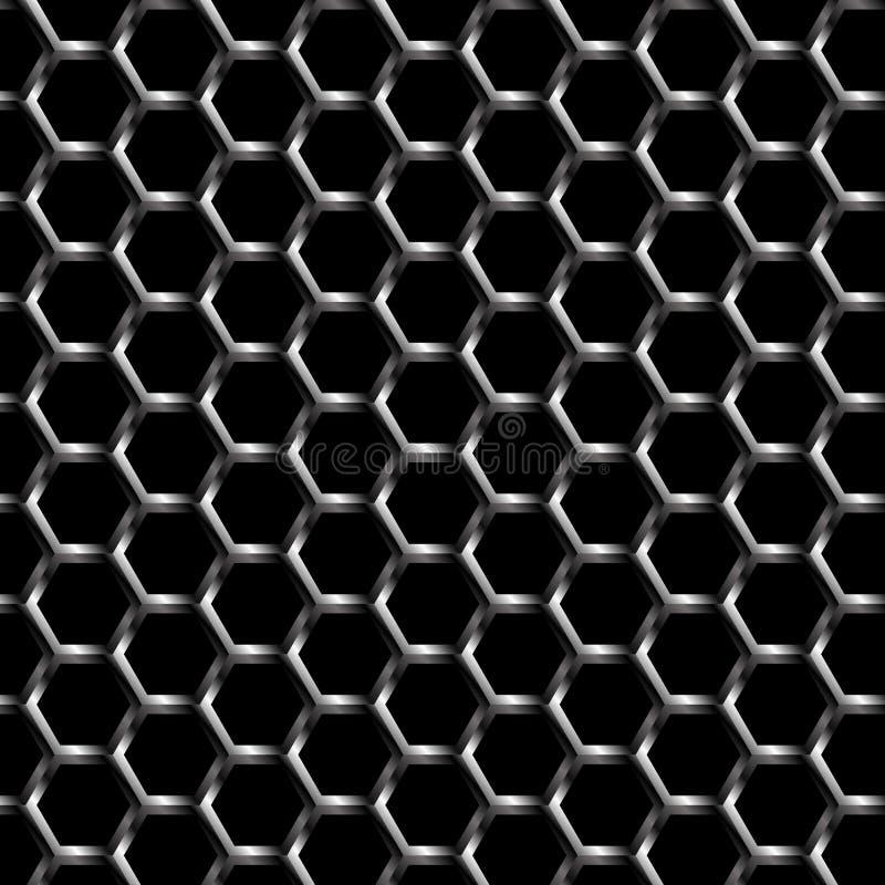 Metalu grilla tła wzór Bezszwowy ilustracji