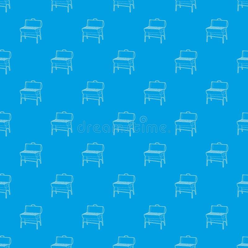 Metalu grilla wzoru wektorowy bezszwowy błękit ilustracji