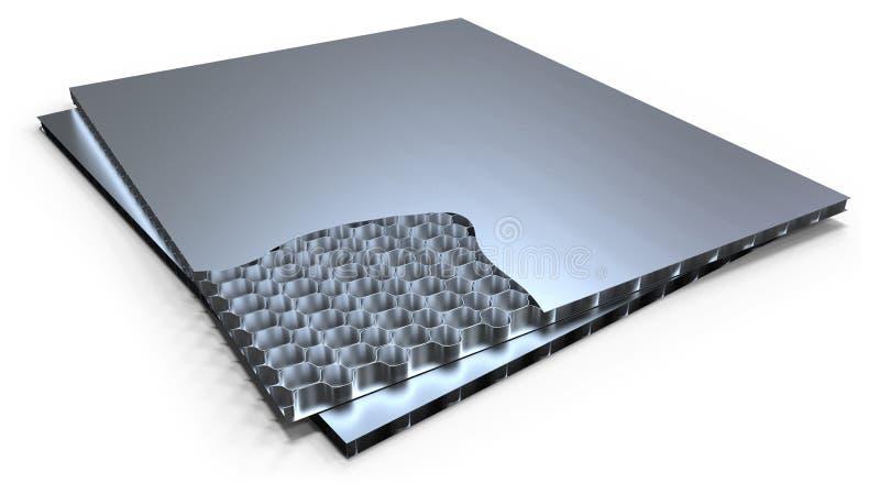 Metalu honeycomb panel ilustracji