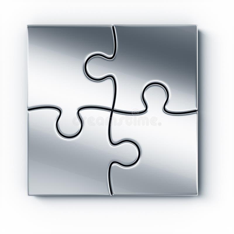 metalu kawałków łamigłówka ilustracji