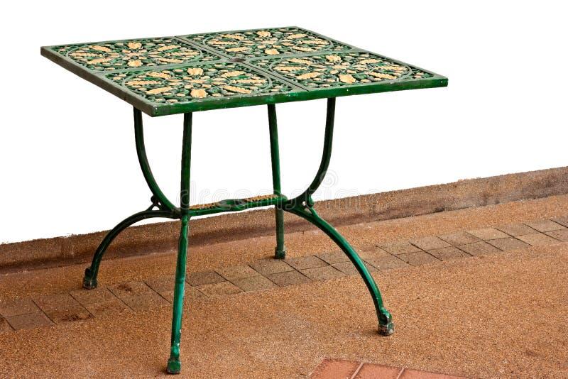 Metalu klasyczny stół obraz stock