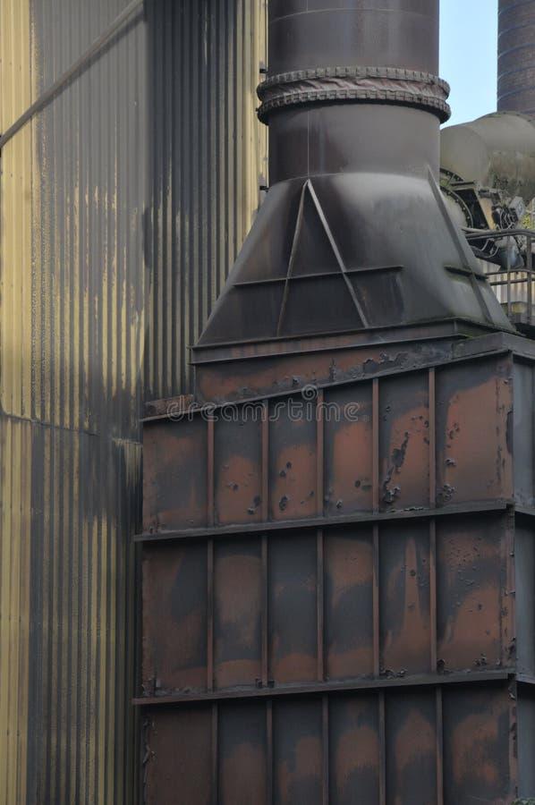Metalu komin wietrzejący obraz royalty free