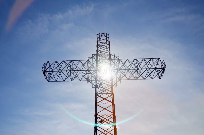 Metalu krzyż w Macedonia zdjęcie royalty free