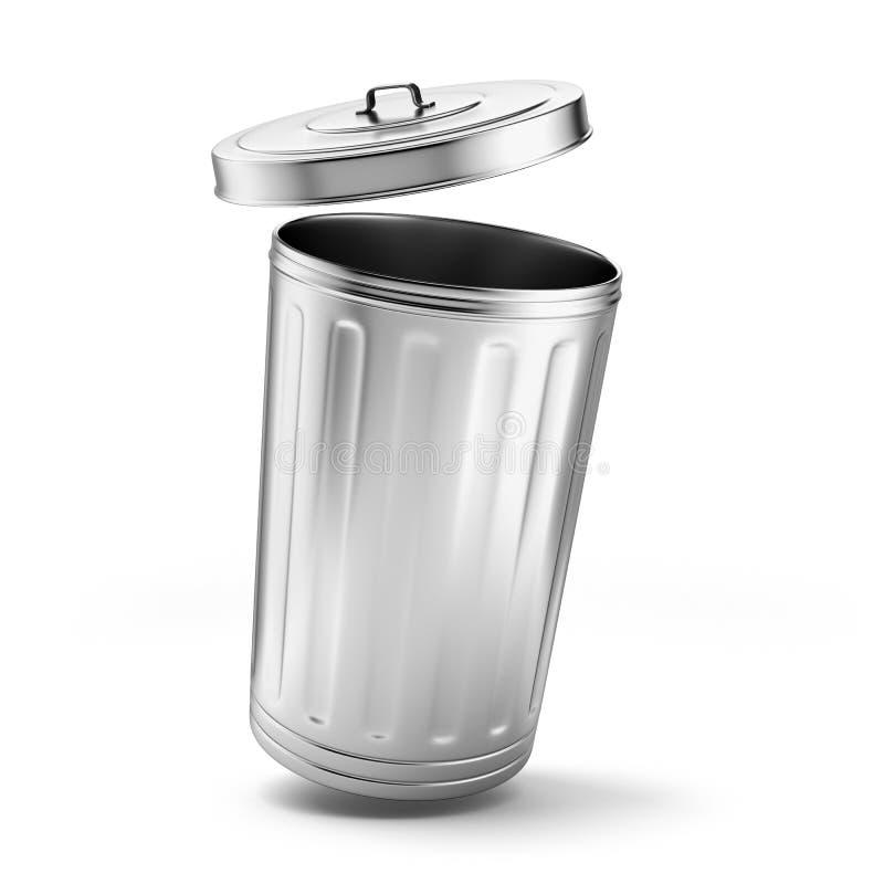 Metalu kubeł na śmieci ilustracja wektor