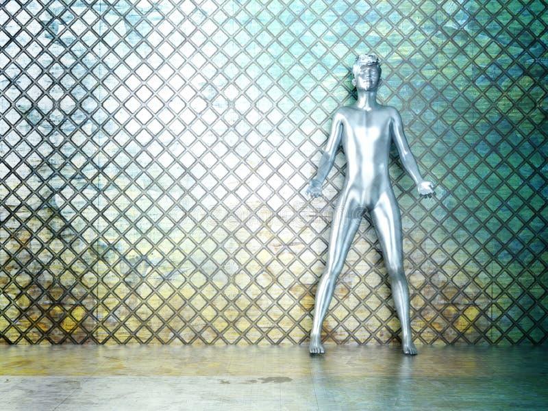 Metalu Mężczyzna ilustracja wektor