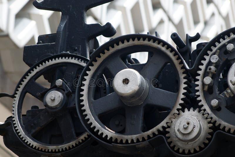 Metalu mechanika przekładni siatka lubi fotografia royalty free