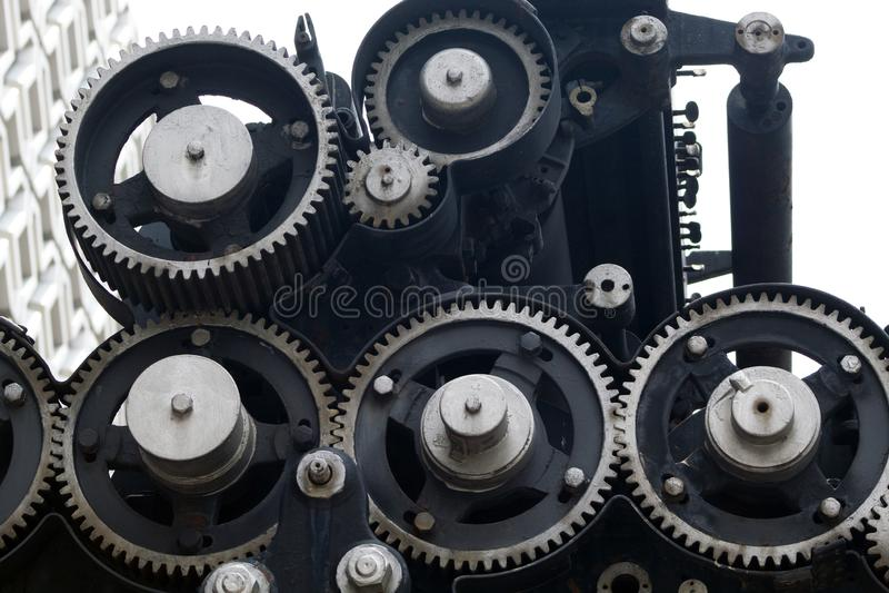 Metalu mechanika przekładni siatka lubi obrazy royalty free