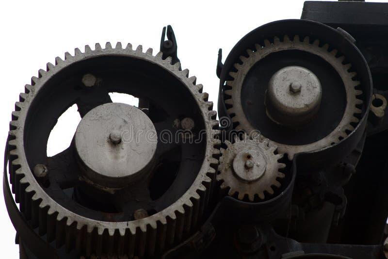 Metalu mechanika przekładni siatka lubi obraz stock