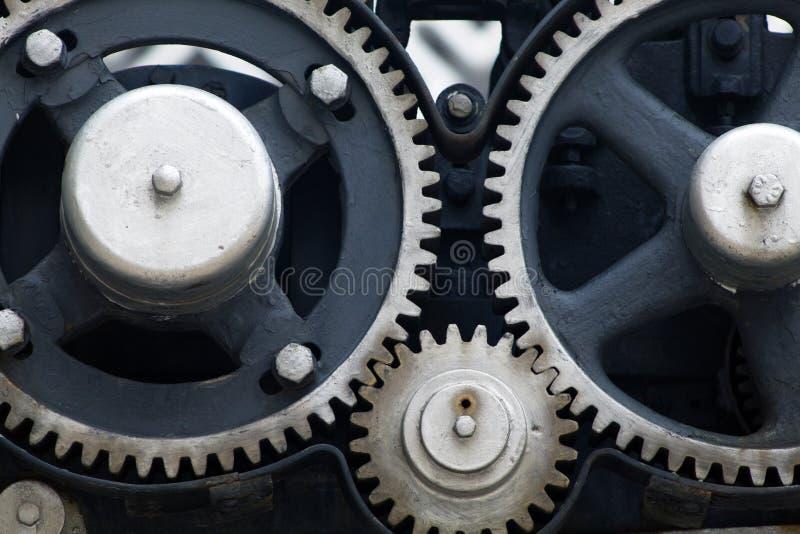 Metalu mechanika przekładni siatka lubi obrazy stock